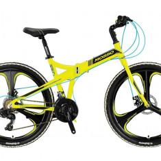 "Bicicleta Mosso Marine ACR 2D pliabila , aluminiu , roata 26"", culoare GalbenPB Cod:M01MSO2602617001"
