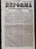 Ziarul Reforma, anul 1, duminica 27-8 decembrie, 1859, 4 pagini, stare buna