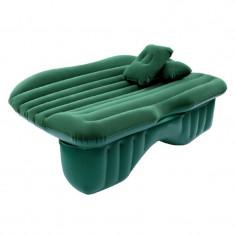 Saltea auto gonflabila Travel Bed, 138 x 85 x 45 cm, suporta 600 kg, Verde, Oem