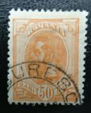 Romania LP 54 n , Carol I Spic de Grau - filigran JOHANNOT , Stampilat