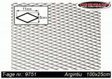 Grila spoiler aluminiu argintie 100x25cm