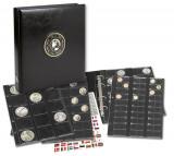 Album-Premium cu 4 folii si intercalari negre pentru 134 monede - Universal