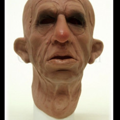 Masca realistica,om batran,din silicon,latex!Modeel noi!