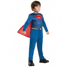 Costum pentru copii Superman, 10-12 ani, 150 cm, Albastru/Rosu, Oem