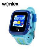 Ceas Smartwatch Pentru Copii Wonlex GW400E cu Functie Telefon, Localizare GPS, Pedometru, SOS, IP67 - Albastru