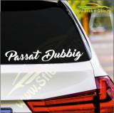 Passat Dubbig - Stickere Auto-Cod:ESV-039-Dim :  20 cm. x 3.6 cm.
