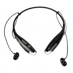 Casti bluetooth cu microfon HBS-730TF, Negru