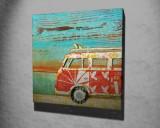 Tablou decorativ, Vega, Canvas 100 procente, lemn 100 procente, 45 x 45 cm, 265VGA1076, Multicolor