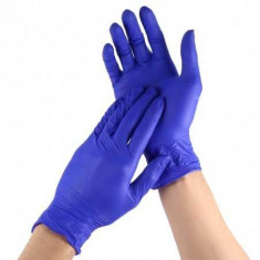 Pachet 100 manusi nitril dark blue marimea M, L