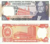 1990 (31 V), 50 Bolívares (P-72) - Venezuela - stare UNC