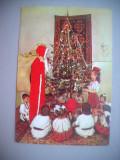 HOPCT 70985  Mos Craciun si copii la Brad-Costume   -CIRCULATA