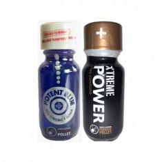 POTENT BLUE & XTREME POWER2X22 ML,POPPERS,AROMA CAMERA,CALITATE,ORIGINAL