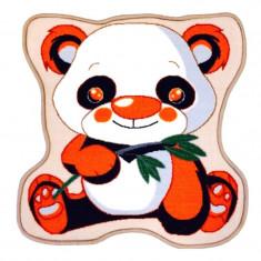 Covoras camera copii Panda, patrat, 65 x 65 cm