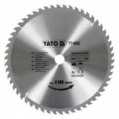 Disc fierastrau circular pentru lemn, 54 de dinti din carbura de wolfram, 350x30x2.5mm, Yato YT-6082