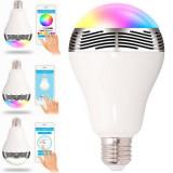Bec fara fir cu LED-uri, wireless si difuzor conexiune Apple, Android, E27