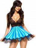 Desu Sexy Eve Chemise Turquoise - Albastru, S/M