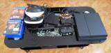 Consola ps4 1Tb+ 2 controlere +Vr&wbcam+ 8 jocuri
