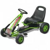 VidaX Kart cu pedale cu șezut reglabil verde, vidaXL