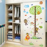 Cumpara ieftin Sticker decorativ cu gradatie Metru Forest autocolant de perete pentru camera copii, 90×60 cm, set 2 coli