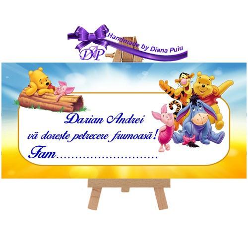 Plic de bani pentru botez Winnie the Pooh Handmade by Diana Puiu PBBW 4