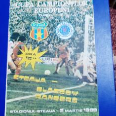 program        Steaua    -   Glasgow   Rangers