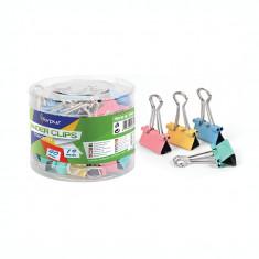 Clips metal Forpus 61626 19 mm culori pastel 40/cutie