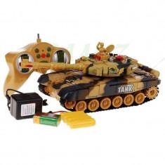 Tanc de lupta cu telecomanda si acumulator Power Tank marime medie D7-217J6A