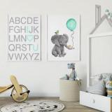 Cumpara ieftin Set 2 tablouri decorative Elefant, Heinner