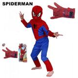 Cumpara ieftin PROMOTIE! COSTUM COMPLET SPIDERMAN DIN 3 PIESE SI ARMA CU MANUSA SPIDERMAN BONUS, Oem