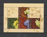ROMANIA 2005  VITICULTURA - Bloc cu 4 timbre si 2 viniete LP.1685  MNH**, Nestampilat