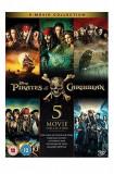 Filme Pirates of the Caribbean 1-5 Boxset [DVD] Originale si Sigilate, Engleza, columbia pictures