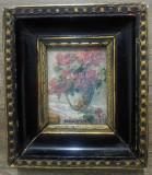 Vaza cu flori// Elena Szilagyi, ulei pe lemn