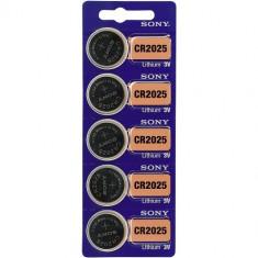 Baterii litiu CR2025 Sony 3V 5 Baterii /Set