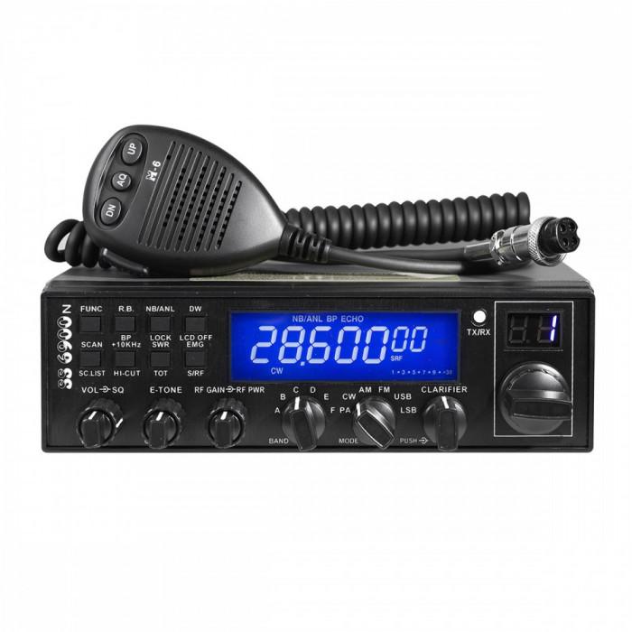Resigilat : Statie radio CB CRT SS 6900 N BLUE AM / FM / USB / CW / PA