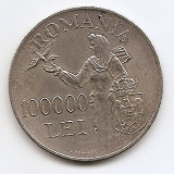 Romania   100 000  Lei  1946 – Mihai I, Argint 25g/700, MV1-21 , 37 mm KM-71