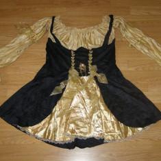 costum carnaval serbare rochie medievala pirata contesa pentru adulti marime XL