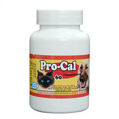 Supliment nutritiv pentru caini si pisici Pasteur Pro-Cal, 60 tablete