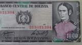 BANCNOTA 1000 PESOS BOLIVIANOS 1982-BOLIVIA