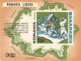 Spania/Romania, Exil rom., em. a XLI-a, Pro Basarabia, colita nedant., 1965, MNH, Nestampilat