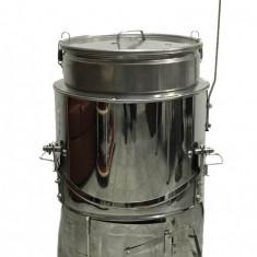 Ceaun Inox cu Soba si Capac, Basculant, 100 Litri