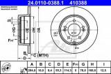 Disc frana HYUNDAI ix35 (LM, EL, ELH) (2009 - 2016) ATE 24.0110-0388.1