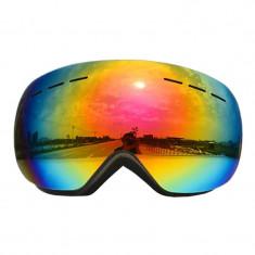 Ochelari unisex ski, snowboard, rama neagra - lentila multicolora, NM99