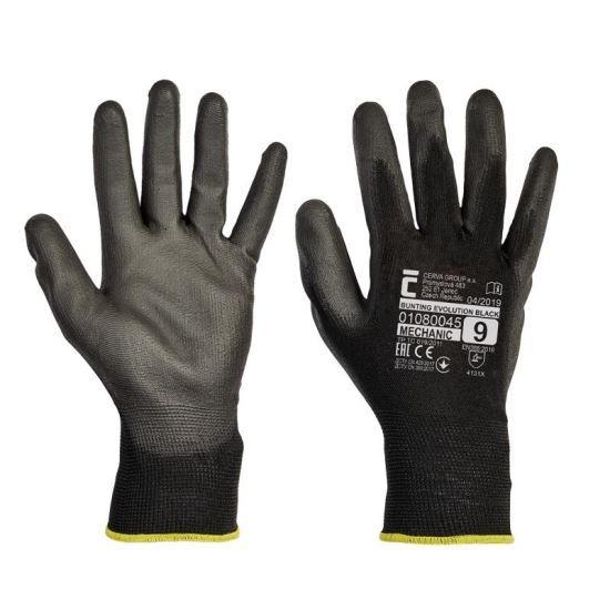Manusi de lucru Cerva Bunting Evolution Black, nylon cu protectie nitril, marimea M Mania Tools