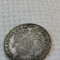 Austria 5 kreuzer 1847 A argint... Cotatie dupa catalog minim 17 euro