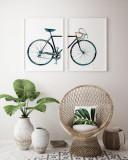 Cumpara ieftin Set 2 tablouri decorative Bicicleta, Heinner