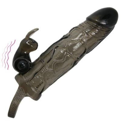 Extensie penis 16.5 cm cu iepure foto