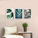 Cumpara ieftin Tablou decorativ, Onno, MDF 100 procente, 3 piese, 94 x 40 cm, 264ONN3101, Multicolor