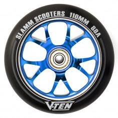 Roata trotineta Slamm V-Ten 110mm albastra + Abec 9