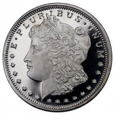 Moneda argint 999 lingou, Morgan dollar replica din argint 3 grame
