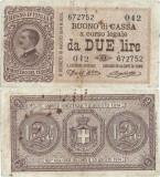 1914 (2 IX), 2 lire (P-37a) - Italia - stare XF!